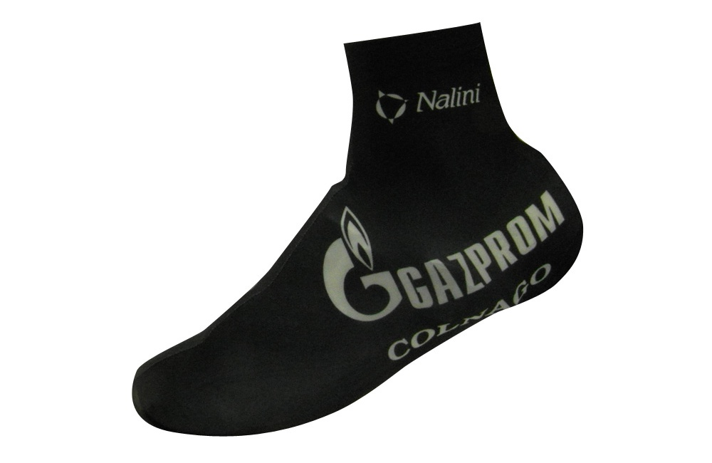GAZPROM-RUSVELO lycra shoe covers 2016 Men