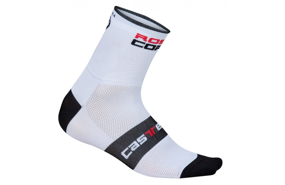 CASTELLI ROSSO CORSA 9 white socks Men